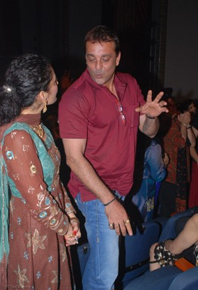 Sanjay and Manyata Dutt on the final night of Shiamak Davar's show, I Believe