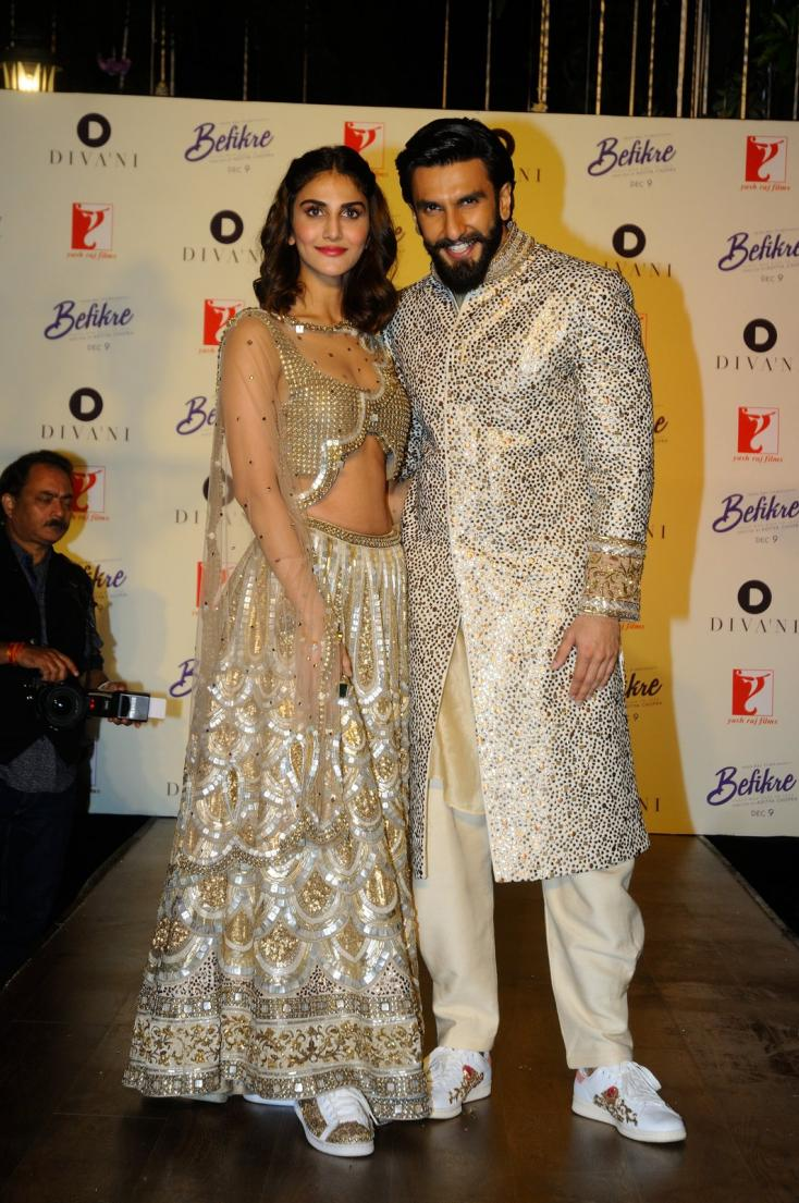 Vaani Kapoor and Ranveer Singh at Befikre bridal collection launch