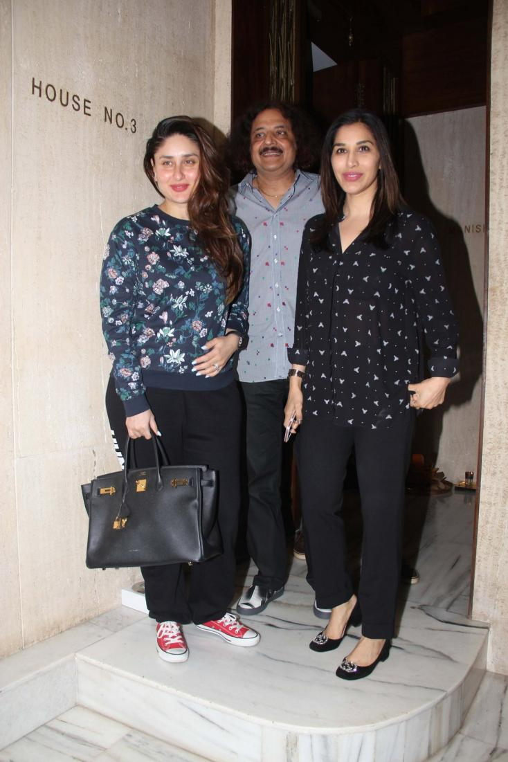 Kareena Kapoor Khan and Sophie Choudry spotted at Manish Malhotra's house
