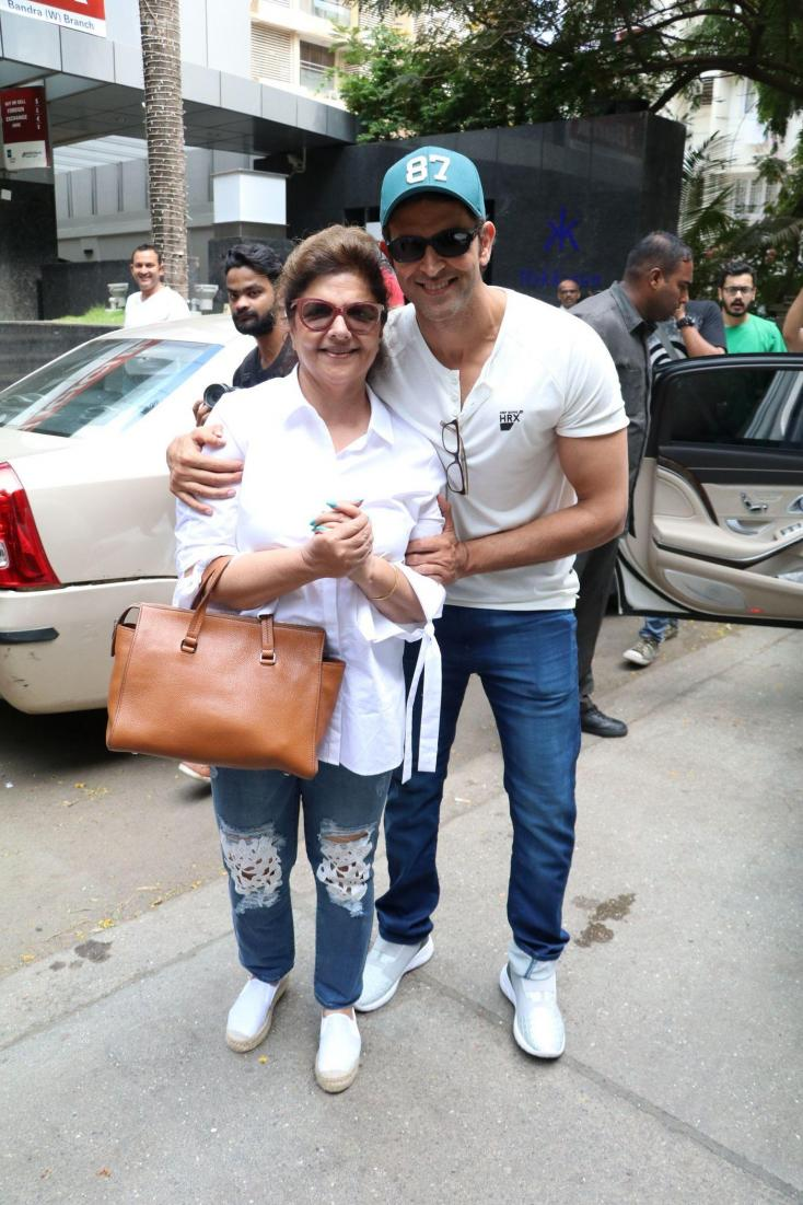 Hrithik Roshan with his mother for Mother's Day celebrations