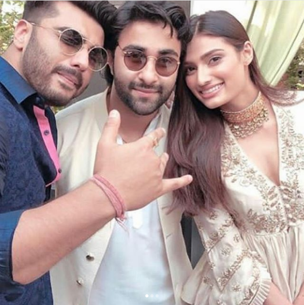 Arjun Kapoor, Aadar Jain and Athiya Shetty