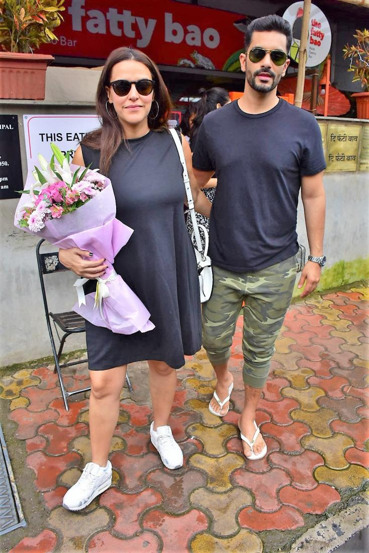 Birthday girl Neha Dhupia steps out for lunch date with husband Angad Bedi