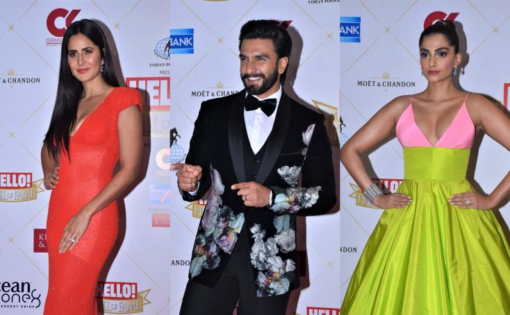 Hello! Hall of Fame Awards 2019: Katrina Kaif, Ranveer Singh, Sonam Kapoor, and More Shine On the Red Carpet