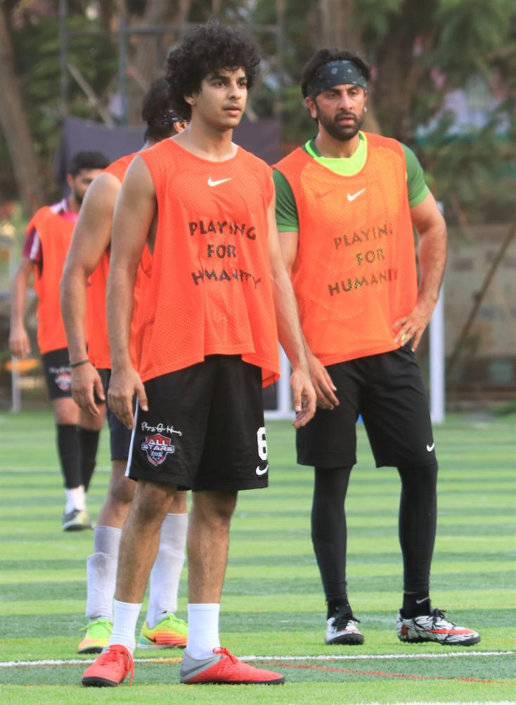 Ranbir Kapoor and Ishaan Khatter hung out for a game of football