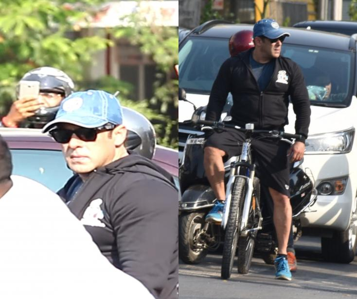 Salman Khan Seen Out and About on a Bike!