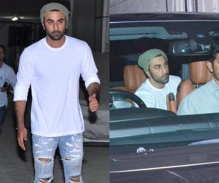 Ranbir Kapoor Papped Sporting a Classic White Top With Denim Look