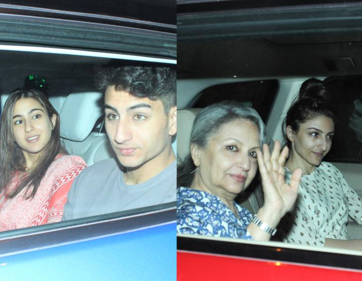 Sara Ali Khan Attends Family Dinner Party with Sharmila Tagore, Soha and Ibrahim Ali Khan