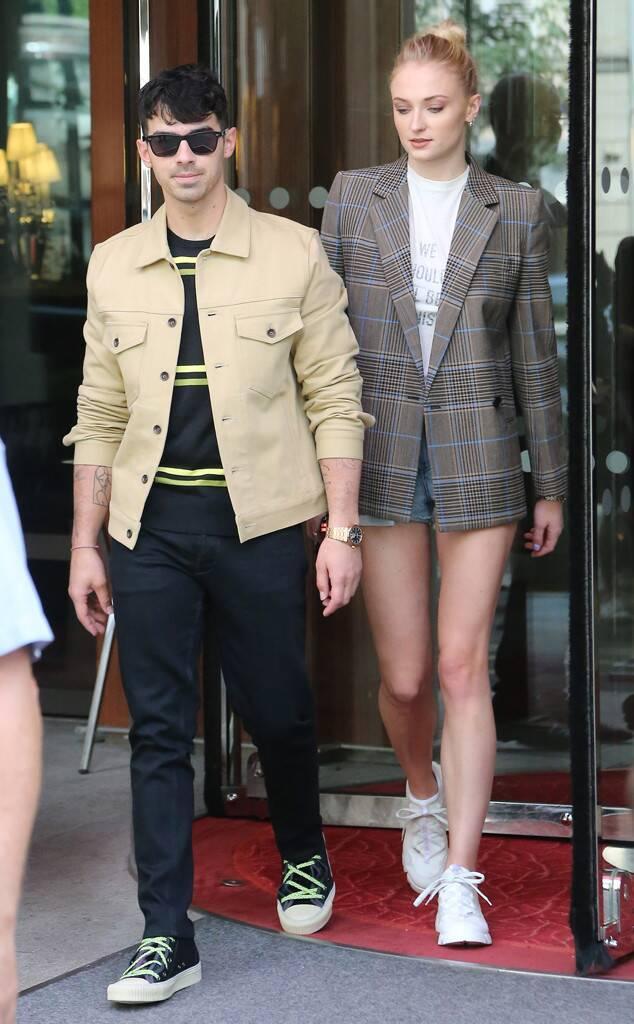 Sophie Turner and Joe Head to Wedding Venue in Style