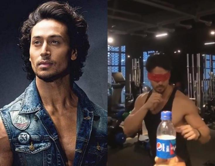 Tiger Shroff Takes #BottleCapChallenge To the Next Level With a BLINDFOLD