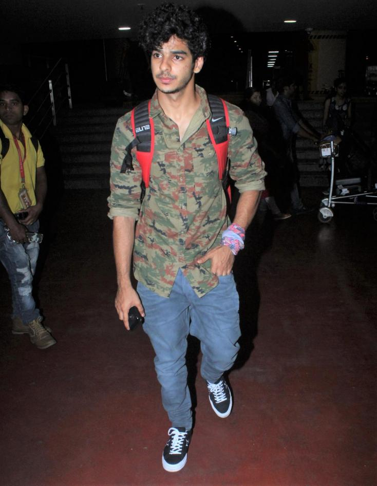 Ishaan Khatter looked totally dapper in his latest look which followed the popular camo trend