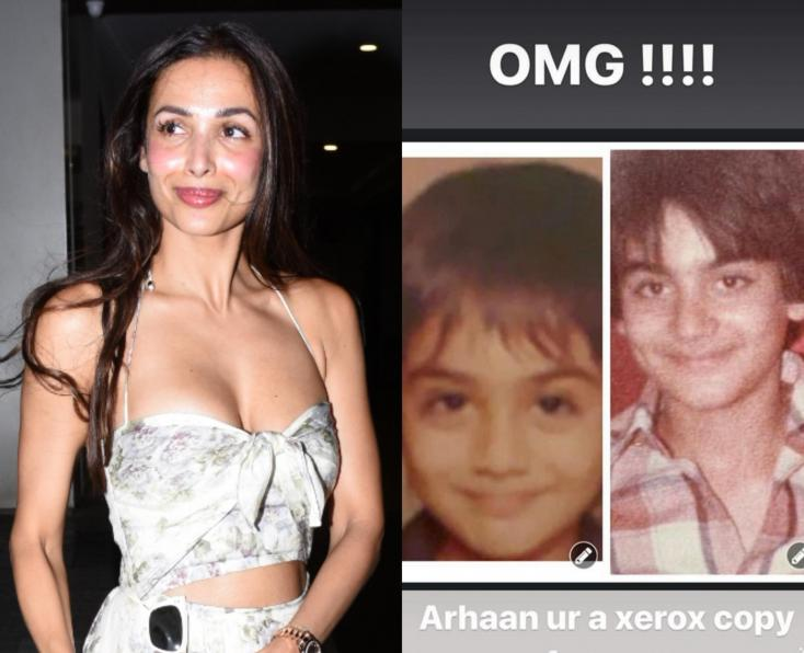 Malaika Arora Celebrates Arbaaz Khan's Birthday With a Comparison Pic of Their Son Arhaan Khan