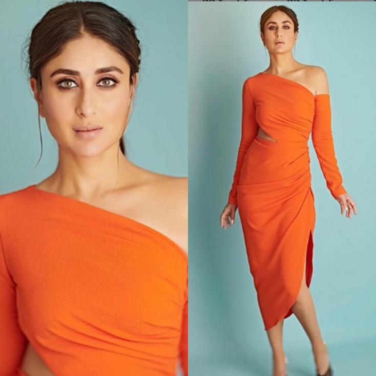 Kareena Kapoor Khan Stuns in Orange on the Sets of 'Dance India Dance'