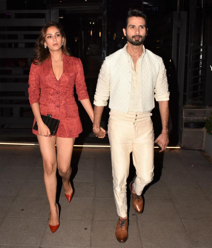 Shahid Kapoor and Mira Rajput Kapoor made a statement together as they made an appearance at last night's Lakme Fashion Week event.