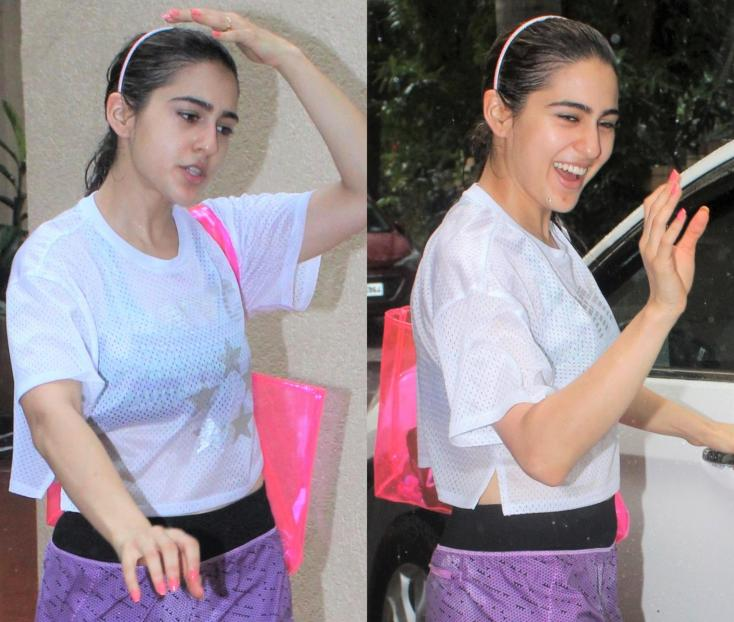 Sara Ali Khan Still Has a Smile On Her Face After Getting Caught in the Rain!
