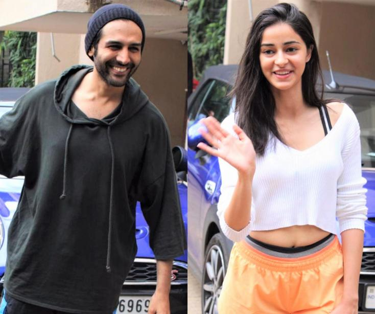 Kartik Aaryan and Ananya Panday Spotted Outside Their Dance Class