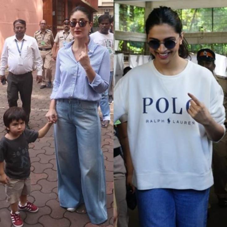 Maharashtra Elections 2019: From Kareena Kapoor Khan with Taimur Ali Khan to Deepika Padukone, Celebrities Step Out to Vote