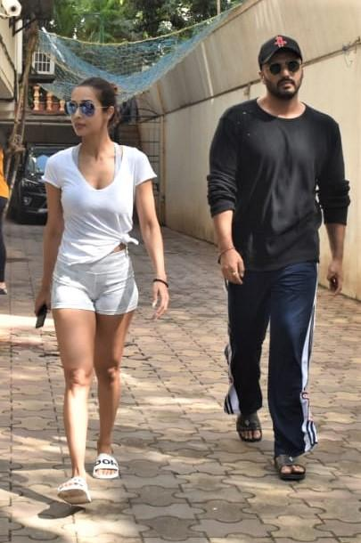 Malaika Arora and Arjun Kapoor were spotted out at a clinic in Mumbai.