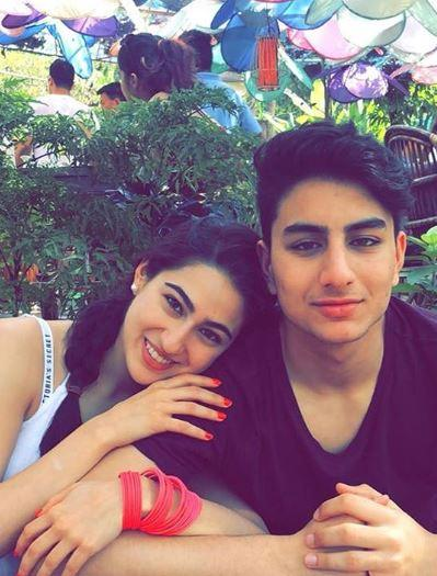 How cute is this picture of Sara and brother Ibrahim Ali Khan!