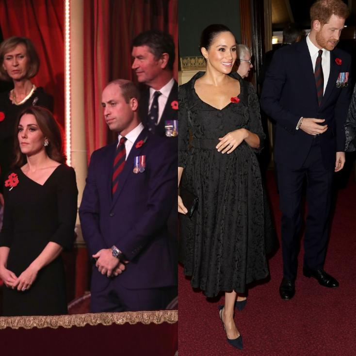 Prince William, Kate Middleton and Prince Harry, Meghan Markle, Did The Couple Meet at the Festival of Remembrance?