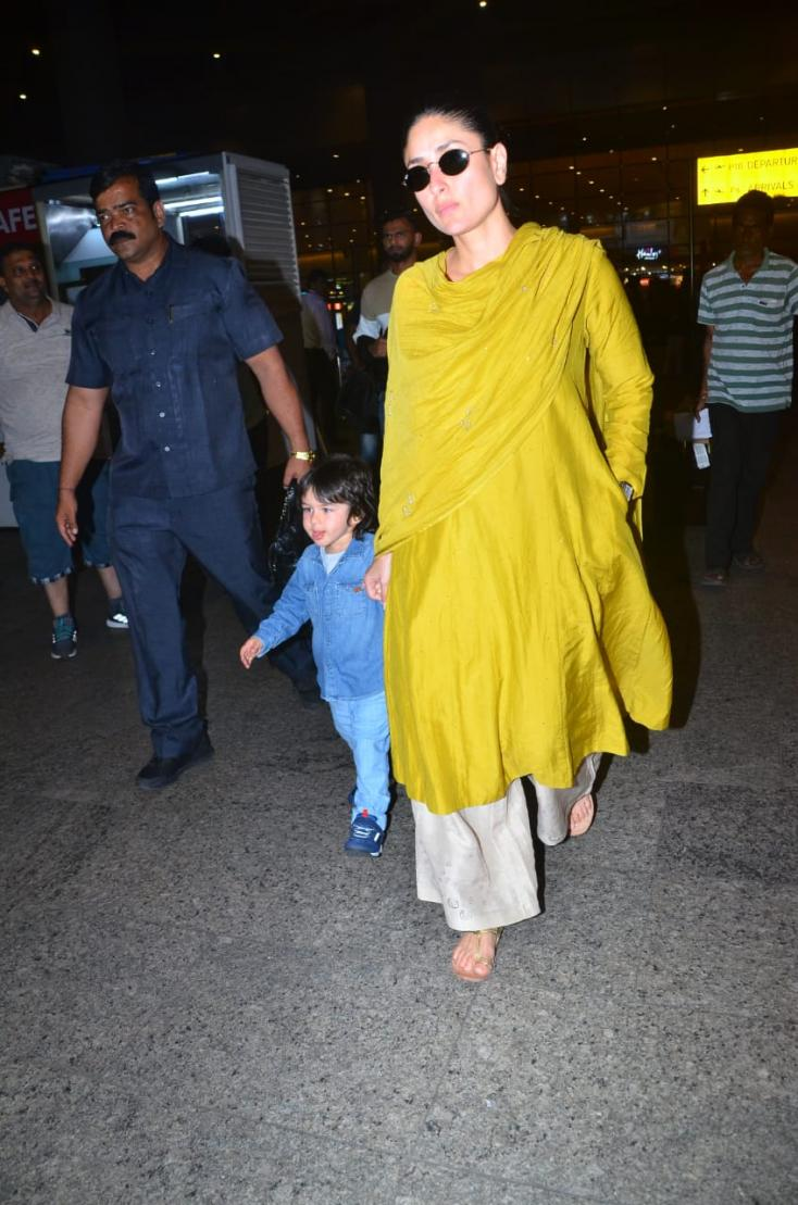 Kareena Kapoor Khan and Taimur Ali Khan's Airport Looks Are Brightening Our Day! See Pics!
