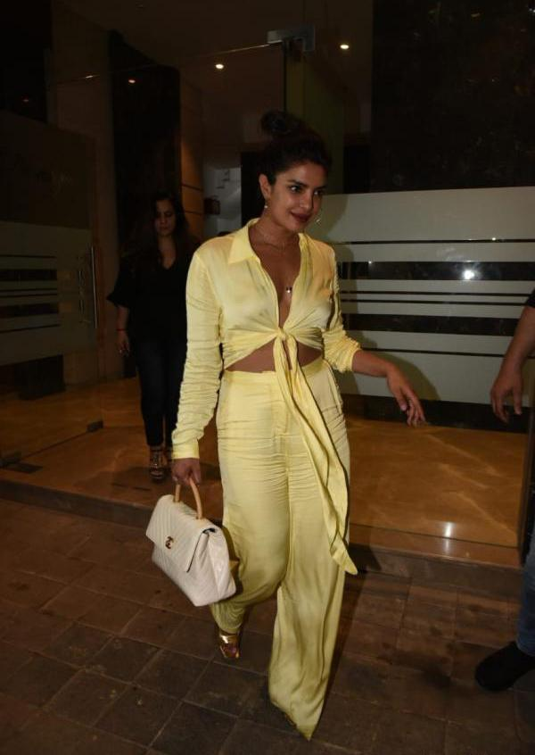 Priyanka Chopra Slays the Night in Matching Silk Coords