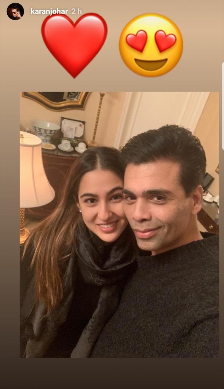 Sara Ali Khan and Karan Johar Reunite in New York
