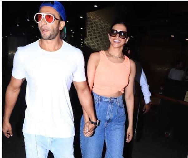 Ranveer Singh, Deepika Padukone Head Back to Mumbai in Casual Airport Looks