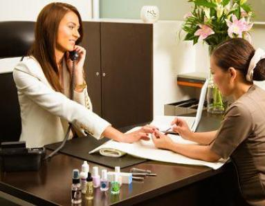 Desk-side Revival From The Nail Spa