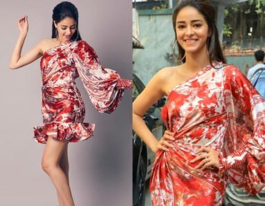 Ananya Panday Gives Her Silk Dress A Twist With Statement Kicks