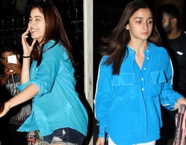 Alia Bhatt, Janhvi Kapoor Are Taking Our Blues Away In Similar Shirts