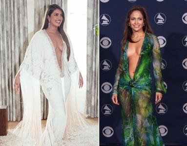 Priyanka Chopra and Jennifer Lopez Dare to Bare in Plunging Necklines