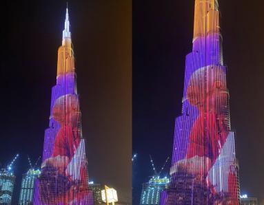 RIP Kobe Bryant: Burj Khalifa Pays Tribute to Basketball Legend