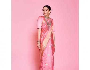 Karisma Kapoor Stuns in Blush Pink as Armaan Jain's Wedding Festivities Continue
