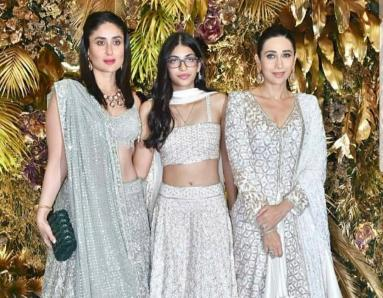 Kareena Kapoor Khan and Karisma Kapoor Dazzle on Armaan Jain's Wedding Reception