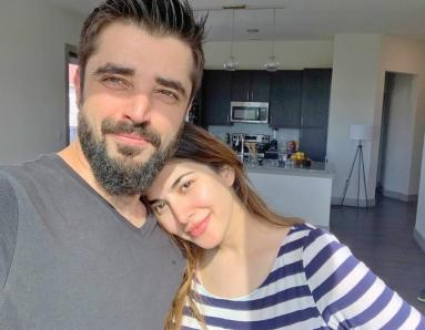 Hamza Ali Abbasi and Naimal Khawar Have Fun Setting up Their Home in Dallas
