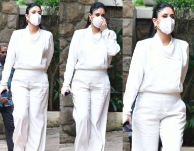 Kareena Kapoor Khan looks cool and chic in a head-to-toe white outfit