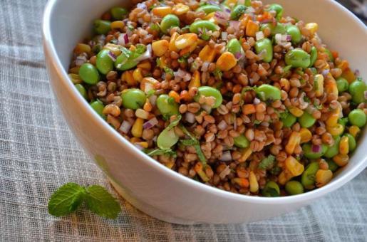 Recipe: Wheat Berry and Edamame Salad