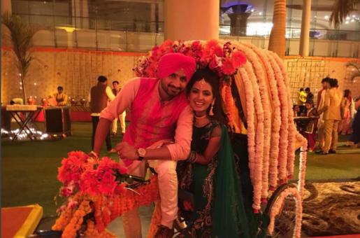 Scoop: Inside Geeta Basra and Bhajji's Fabulous Sangeet!