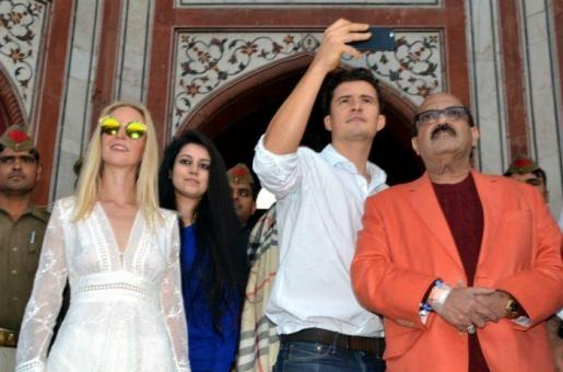 Hollywood Actor Orlando Bloom Gets an Amazing Tour of the Taj Mahal