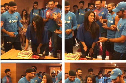Harbhajan Singh Celebrates Wife Geeta Basra's Birthday With The Indian Cricket Team