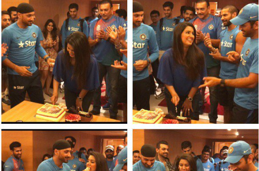 Harbhajan Singh Celebrates Wife Geeta Basra's Birthday With The Indian Cricket Team