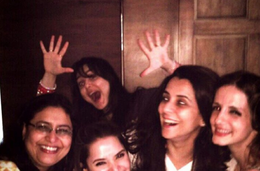 Preity Zinta Catches Up With Friends