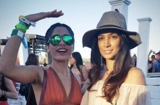 Freida Pinto and Preeti Desai Bond at Coachella