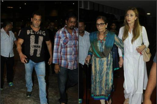 Iulia Vantur Spotted with Salman Khan and Family