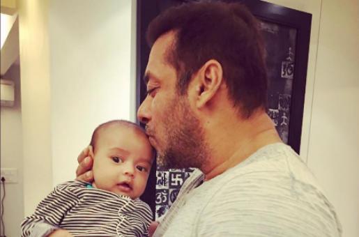 Mamu Salman Khan Bonds With Adorable Nephew Ahil Sharma