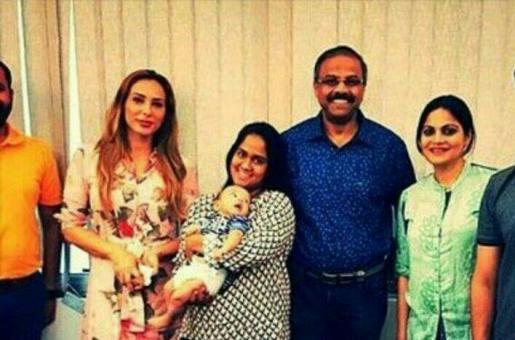 Adorable! Iulia Vantur Bonds With Baby Ahil and Salman Khan's Sisters!