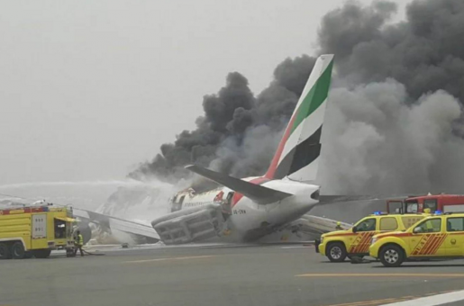 Emirates Flight Makes An Emergency Landing at Dubai International Airport