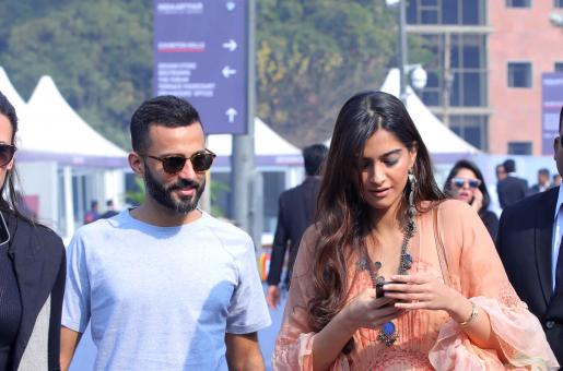 Sonam Kapoor Makes a Public Appearance with Alleged Boyfriend