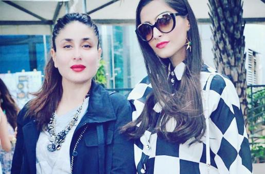 PICS: Kareena and Sonam Kapoor Look Adorable On The Sets of Veere Di Wedding
