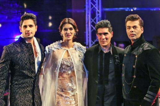Sidharth Malhotra, Kriti Sanon and Karan Johar Walked the Ramp for Manish Malhotra